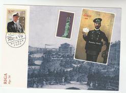 1998 LATVIA / NORWAY POST OFFICE At RIGA  PHILATELIC EXHIBITION EVENT COVER (card) - Latvia