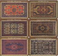 ARMENIA - Set Of 6 ArmenTel Telecards 50 Units, Carpets, Tirage 16000, 11/02, Samples(no Chip, No CN)