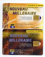 TELECARTES  POLYNESIE FRANCAISE  *30 Unités  *60 Unités  Nouveau Millénaire  (lot De 2)