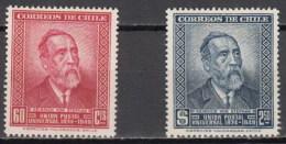 Chile 0227/228 ** MNH. 1950 - Chile