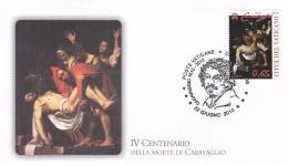Vatican FDC 2010 IV Centenario Della Morte Di Caravaggio (T11-19) - FDC