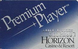 Horizon Casino - Lake Tahoe, NV - Slot Card - Logo On Reverse - Embossed Player Info