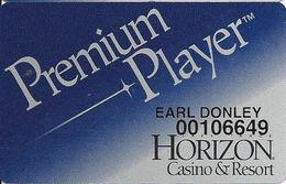 Horizon Casino - Lake Tahoe, NV - Slot Card - Logo On Reverse - Printed Player Info - Casino Cards