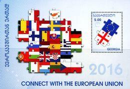 XF0966 Georgia 2016 EU Cooperation M/s MNH - Georgia