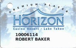 Horizon Casino - Lake Tahoe, NV - Slot Card - No Insert Arrows - Reverse Not Aligned At Right