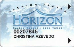Horizon Casino - Lake Tahoe, NV - Slot Card - Insert Arrows - Reverse Not Aligned At Right
