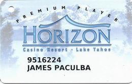 Horizon Casino - Lake Tahoe, NV - Slot Card - No Insert Arrows - Reverse Aligned At Right
