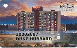 Horizon Casino - Lake Tahoe, NV - Slot Card - Light Band For Player Info - Reverse Logo At Right - Casino Cards