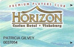 Horizon Casino - Vicksburg, MS - Slot Card - ACC Lower Right On Back - Casino Cards