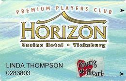 Horizon Casino - Vicksburg, MS - Slot Card - ACC Lower Right On Back - Young At Heart Senior Sticker