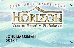 Horizon Casino - Vicksburg, MS - Slot Card - ACC Lower Left & 2404064 Lower Right On Back