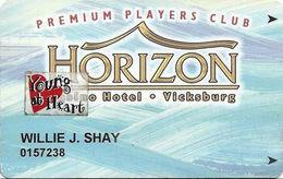 Horizon Casino - Vicksburg, MS - Slot Card - ACC Lower Left & 2404064 Lower Right On Back - Senior Sticker