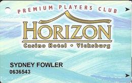Horizon Casino - Vicksburg, MS - Slot Card - ACC Lower Left & 2505155 Lower Right On Back