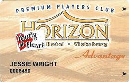 Horizon Casino - Vicksburg, MS - Slot Card - ACC Lower Left & 2404064 Lower Right On Back - Senior Sticker - Casino Cards