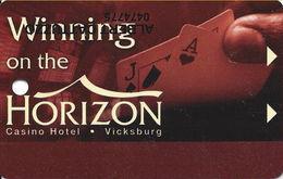 Horizon Casino - Vicksburg, MS - Slot Card - (I) Lower Left On Reverse
