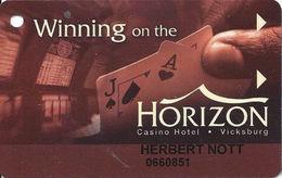 Horizon Casino - Vicksburg, MS - Slot Card - No Manufacturer Mark On Reverse - Casino Cards