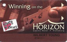Horizon Casino - Vicksburg, MS - Slot Card - No Manufacturer Mark On Reverse - Senior Sticker