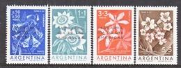 ARGENTINA  B 31-4  **  FLOWERS   OVPT. - Unused Stamps