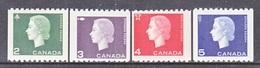 CANADA  406-9   *  COILS - 1952-.... Reign Of Elizabeth II