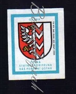 39-122 CZECHOSLOVAKIA 1973 Opava Troppau Opawa  COAT OF ARMS Escudo Héraldique Wappen - Luciferdozen - Etiketten