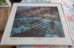 ° Gravure Débarquement JUNO BEACH à Bernières-sur-mer Du 6 Juin 1944. Ed. Du Queen's Own Riffles Of Canada. Gravure 43 P - 1939-45