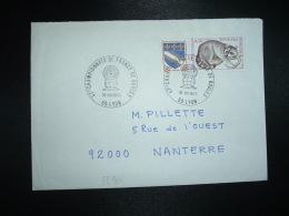 LETTRE TP RATON LAVEUR 0,40 + TROYES 0,10 OBL.31 VIII 1973 69 LYON 47ES CHAMPIONNATS DE FRANCE DE BOULES