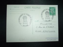 CPE CHEFFER 0,30 OBL.31 VIII 1973 69 LYON 47ES CHAMPIONNATS DE FRANCE DE BOULES