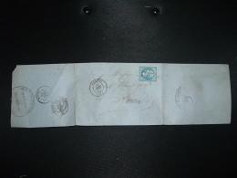 LETTRE (PLI) TP EMPIRE ND 20c OBL. GC 1107 + 20 DEC 62 CONDOM (32 GERS) DE PEYRECAVE & Cie CAISSE D'ESCOMPTE - Marcophilie (Lettres)