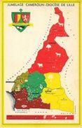 Carte Géographique - Jumelage Cameroun-Diocèse De Lille - Carte Non Circulée - Mapas