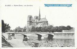 Publicité Chocolat Guérin-Boutron - Paris, Vue Derrière De Notre-Dame - Carte Non Circulée - Werbepostkarten