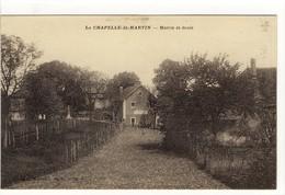 Carte Postale Ancienne  La Chapelle Saint Martin - Mairie Et Ecole - Other Municipalities