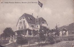CPA. MOUTIER.. HOTEL PENSION BELLEVUE.  JURA BERNOIS. - Other Municipalities