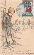 """Illustration De POULBOT - Petits Français - N°60 - """"Oh Moi, C'est Avec De ..."""" - Cachet Comp. Des Prisonniers De Guerre - Poulbot, F."""