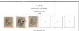 Cuba 1888 Newspaper Stamps King.Alfonso XXII°  Scott.P1+2+3++ Usati See Scans - Cuba