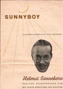 ! Ca. 1946 Programmheft Helmut Sonneborn, Orchester, Musik, Ulm - Programme