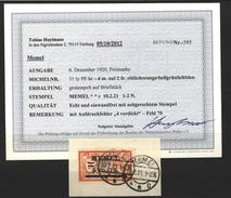 Memel,31Iy,PF Ia,Bs,o,Befund - Memelgebiet