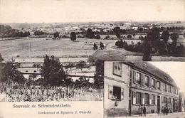 C P A Cpa Schwindratzheim Restaurant Et épicerie J Obrecht 57 Moselle Alsace - Francia