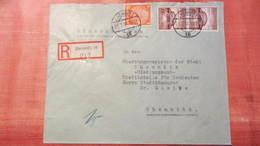 DR 33-45: R-Orts-Brief Mit  15 Pf Turn- Und Sportfest Breslau Senkr.Paar Aus Chemnitz 16 (217) 27 21.7.38 Knr: 668(2) Ua - Briefe U. Dokumente
