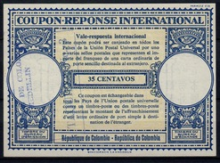 COLOMBIA / COLOMBIE London Type XVIn  35 CENTAVOS Intern. Reply Coupon Reponse Vale Respuesta  IAS IRC  O MEDELLIN - Kolumbien