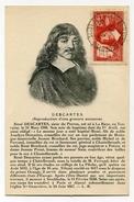 !!! CARTE MAXIMUM DESCARTES DISCOURS DE LA METHODE CACHET DE LA HAYE DESCARTES 11/6/1937 - Maximum Cards