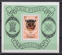 BARBUDA :  Block 57  –  ** MNH  Royal Wedding Diana & Charles  – (1981) - Antigua & Barbuda (...-1981)