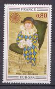N° 1840  Europa 1975 Paul En Arlequin De Picasso ( 1881-1973 ):  Un Timbre Neuf Sans Charnière - Unused Stamps