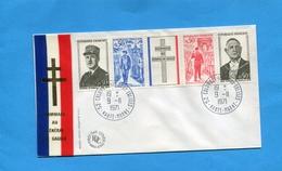 """Enveloppe Illustrée FDC  """"bande De GAULLE """" N1695-8° Oblitération  """"Colombey Lesdeux églises"""" -9 11 1971 Cote 15eu - FDC"""