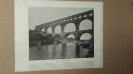 Photo - REPRODUCTION - RECTO : Nimes Le Pont Du Gard / VERSO : Bruxelles L'église Sainte Gudule - Reproductions