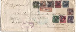 Lettre Des Etats Unis En Recommandé Pour Bordeaux En 1899, Bel Affranchissement - Postal History