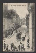 DF / 21 CÔTE D'OR / DIJON / RUE RAMEAU / TRAMWAY / ANIMÉE / CIRCULÉE EN 1917 - Dijon