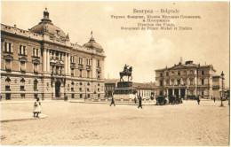 Belgrade - Direction Des Fonds, Monument De Prince Michel Et Théâtre - Serbia