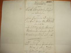 ! 1798 Obligation Aus Uetersen Schleswig-Holstein, Kirche, Old Paper Bond - Hist. Wertpapiere - Nonvaleurs