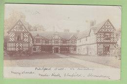 Carte Photo : PITCHFORD HALL, Near Shrensbury. 2 Scans. Carte Photo - Shropshire