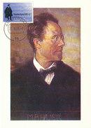 D29236 CARTE MAXIMUM CARD 1995 NETHERLANDS - COMPOSER GUSTAV MAHLER CP ORIGINAL - Musik